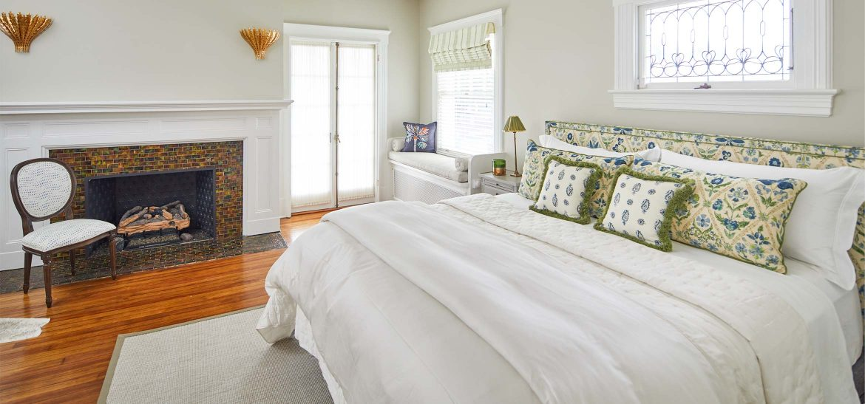 King bed by window and door