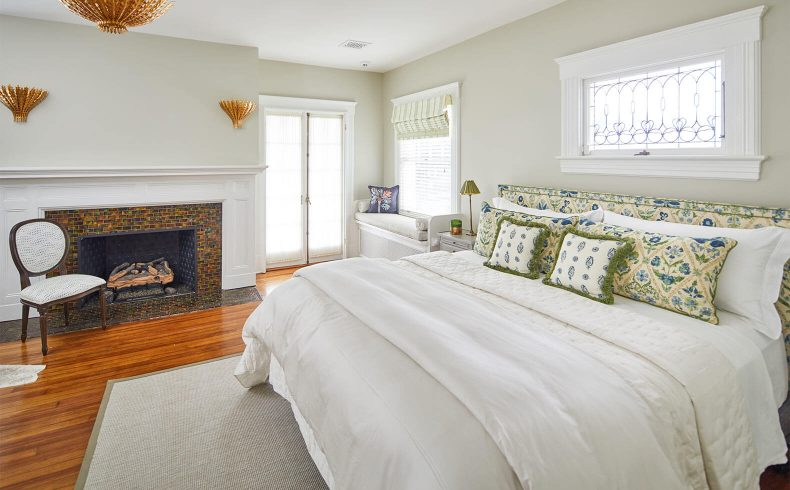 King Bed in Mooreland Room with Fireplace
