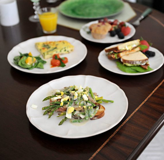 Different breakfast options from The Smith Steiner