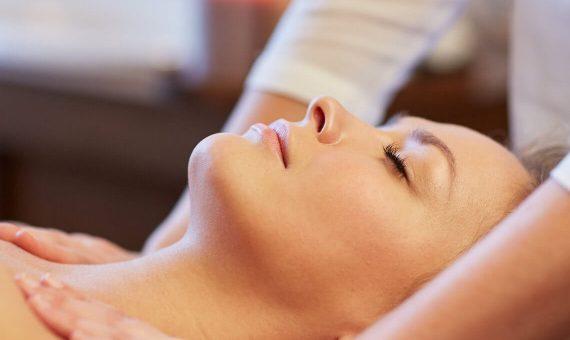 Woman enjoying a relaxing massage