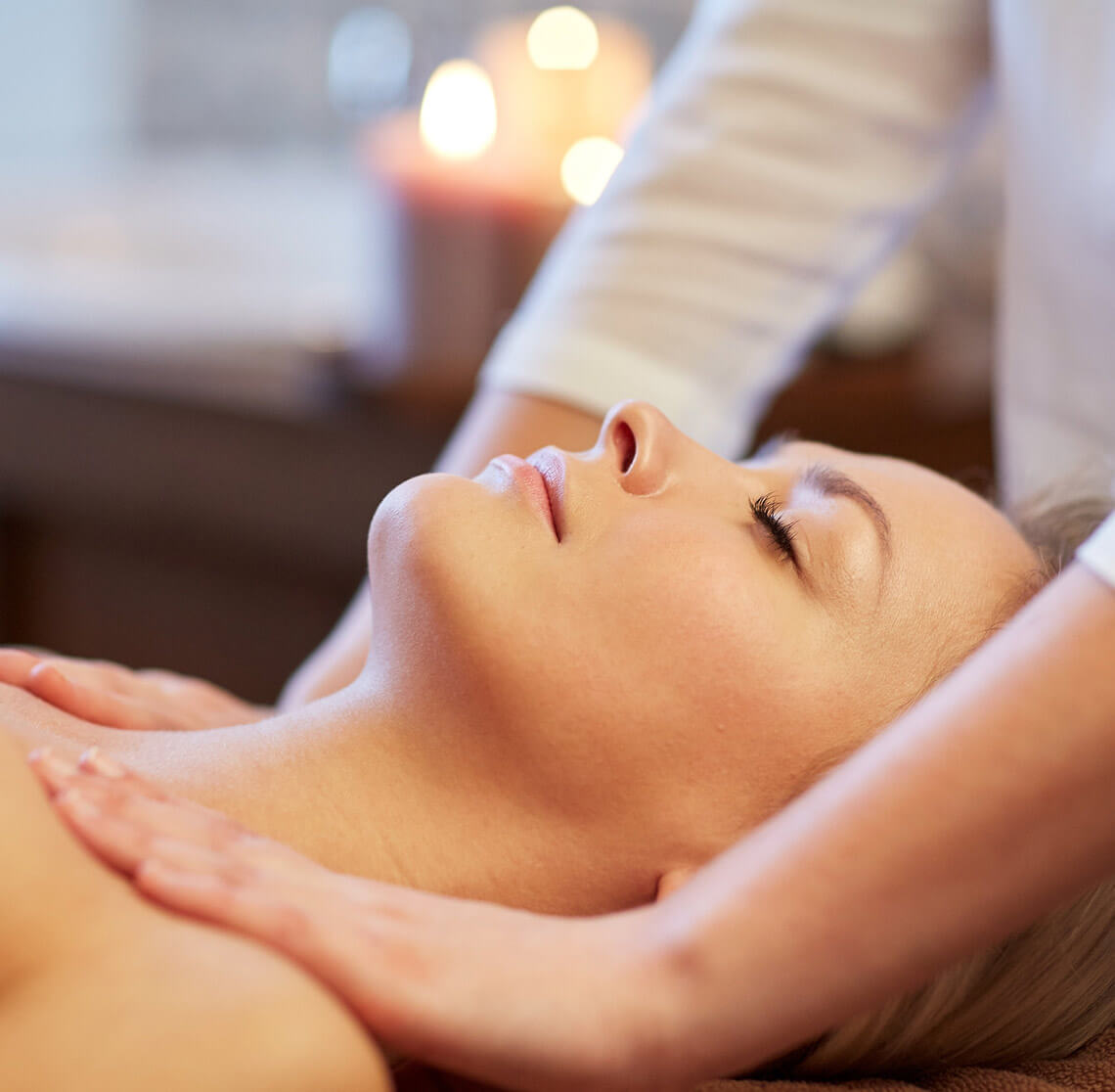 Woman enjoying a relaxing massage