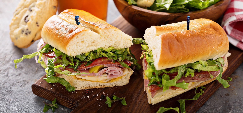 Sandwich at a restaurant