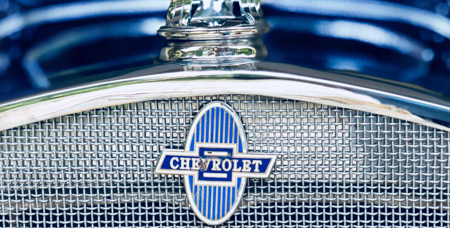 Blue Chevrolet emblem