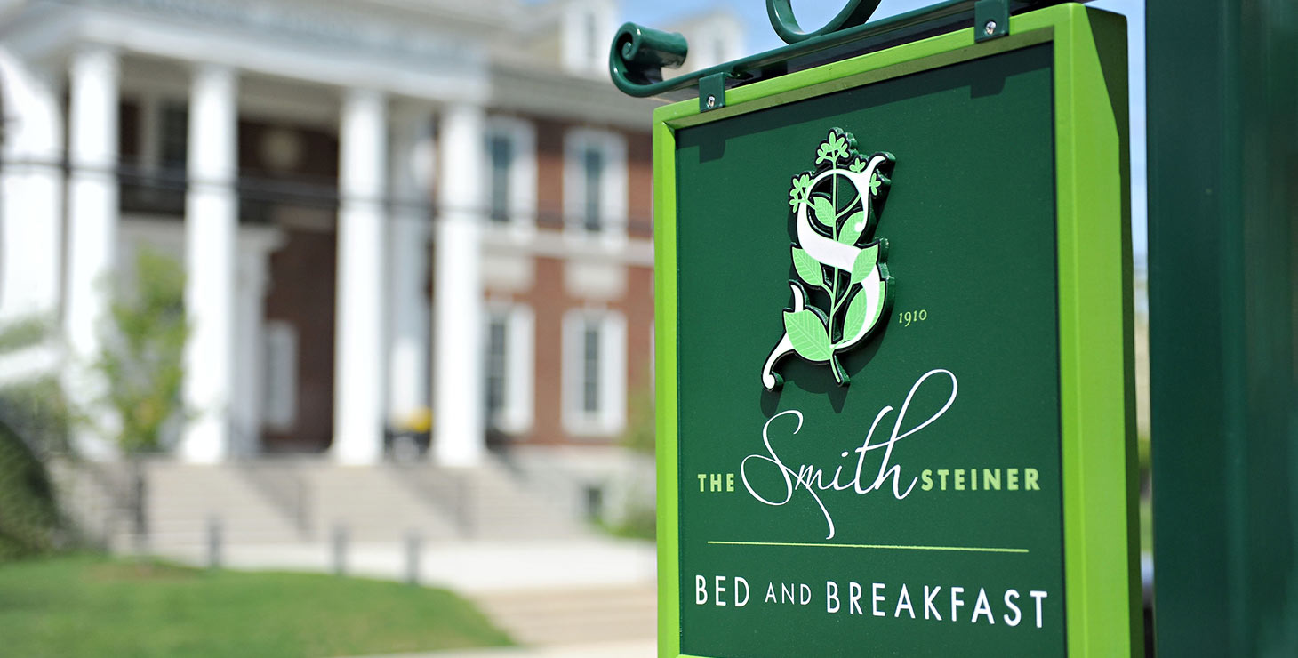 Exterior sign for The Smith Steiner Bed and Breakfast